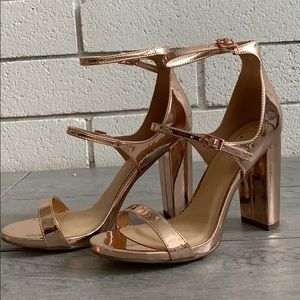 Size 8 and 8.5 Penny Open toe Strappy Block Heel